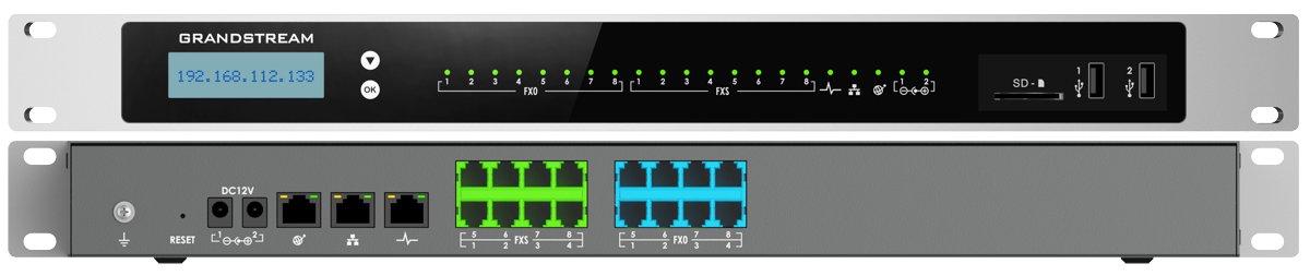 ucm 6308 pbx panel views front back