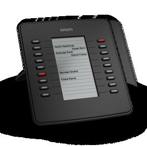 D7 snom expansion module with LED keys lit
