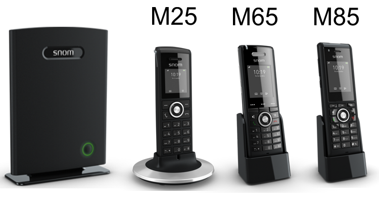 snom M700 compatible cordless IP phone models