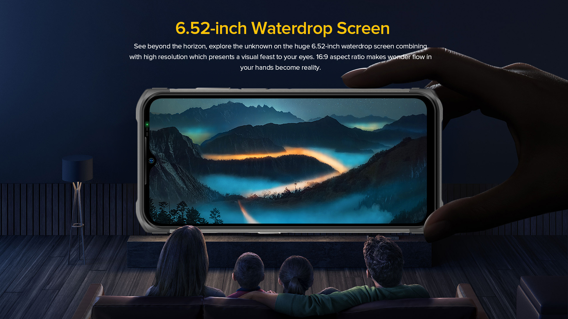 large capacitive touchscreen viewing