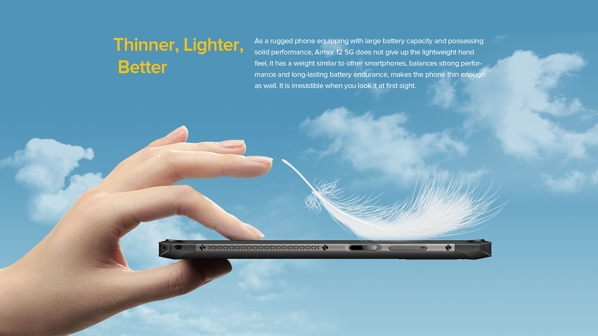 ulefone 12 - thinner lighter rugged cell phone