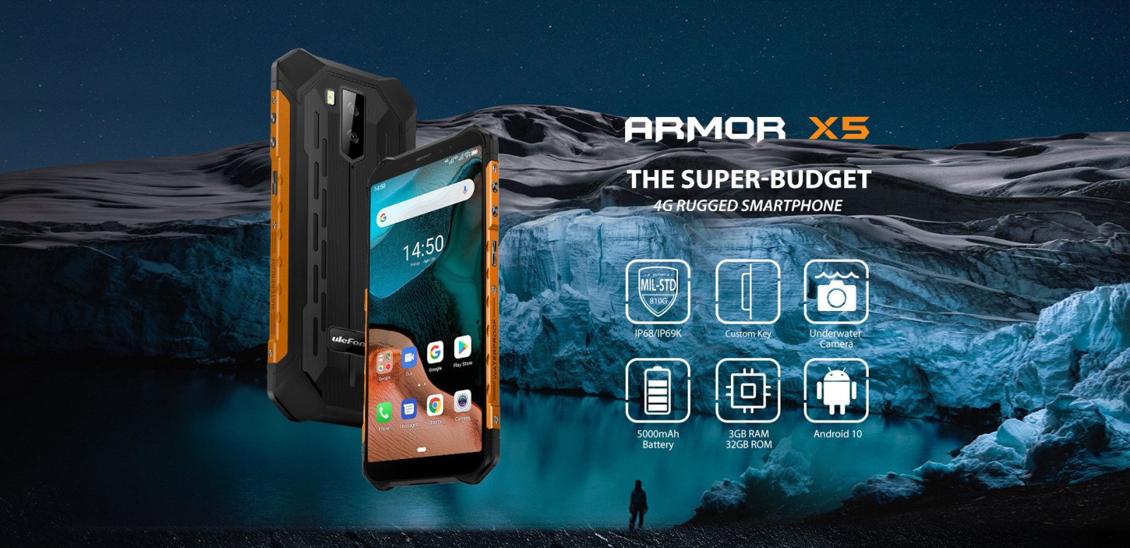 Armor X5 highlight IP68 / IP69K protection