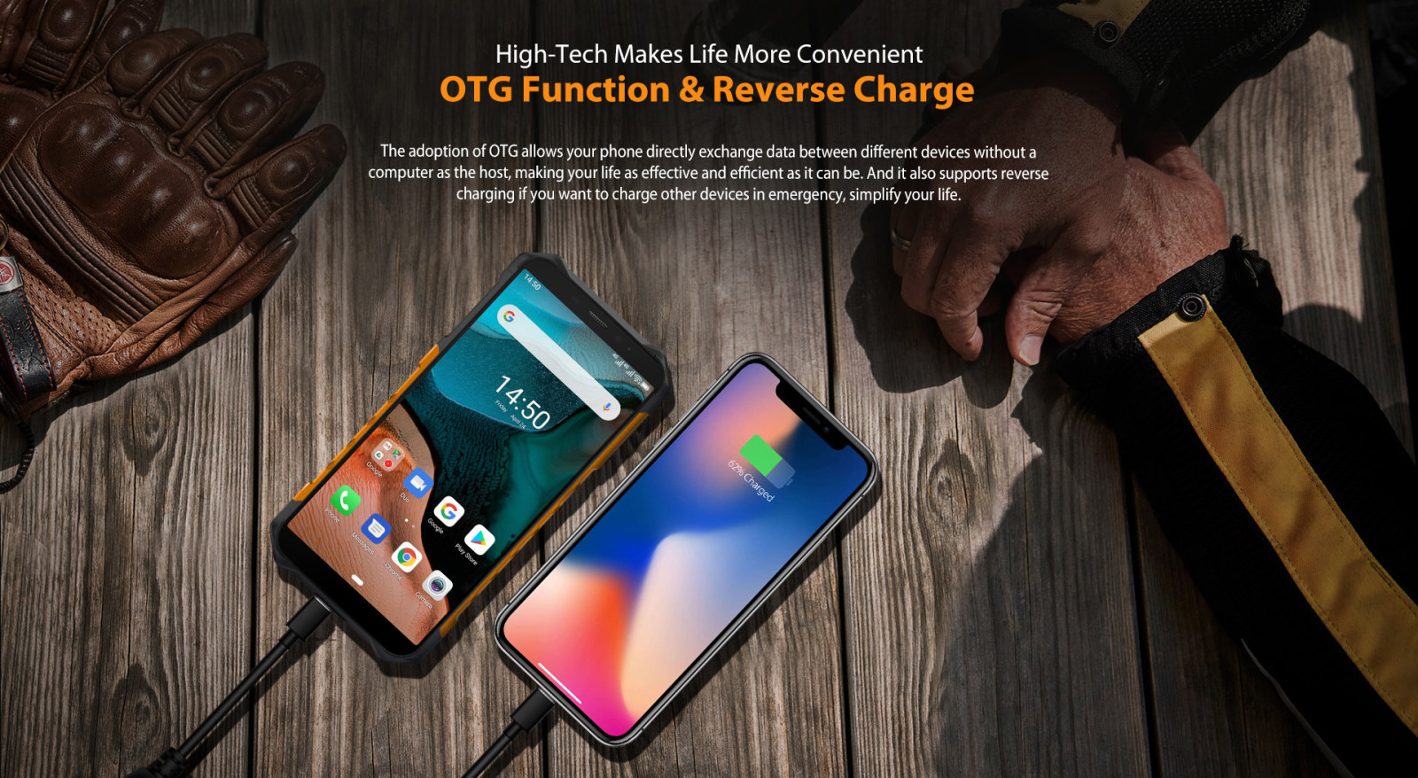 OTG reverse charging cell phone