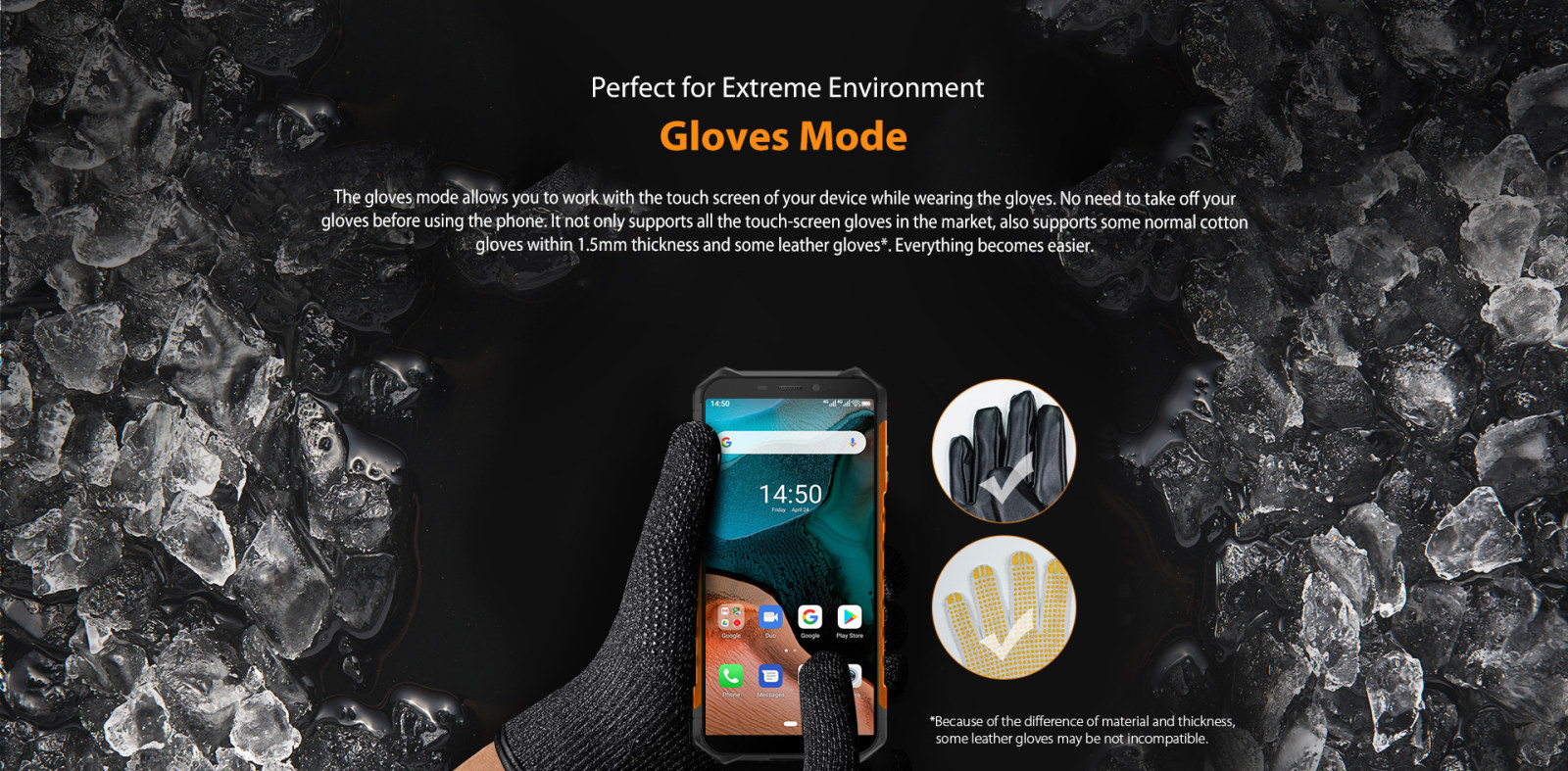 touchscreen works with gloves