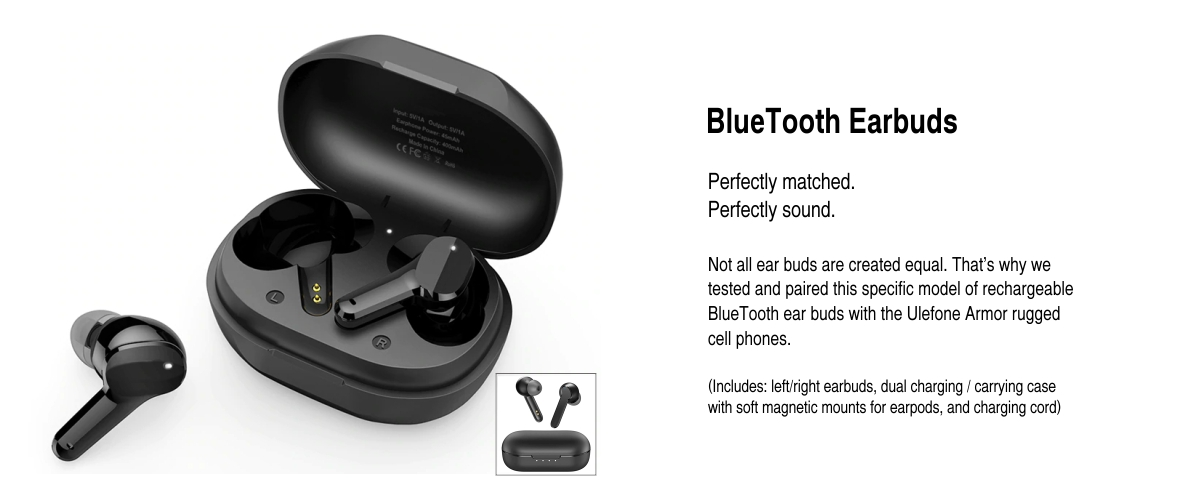 bluetooth wireless earpods for ulefone armor