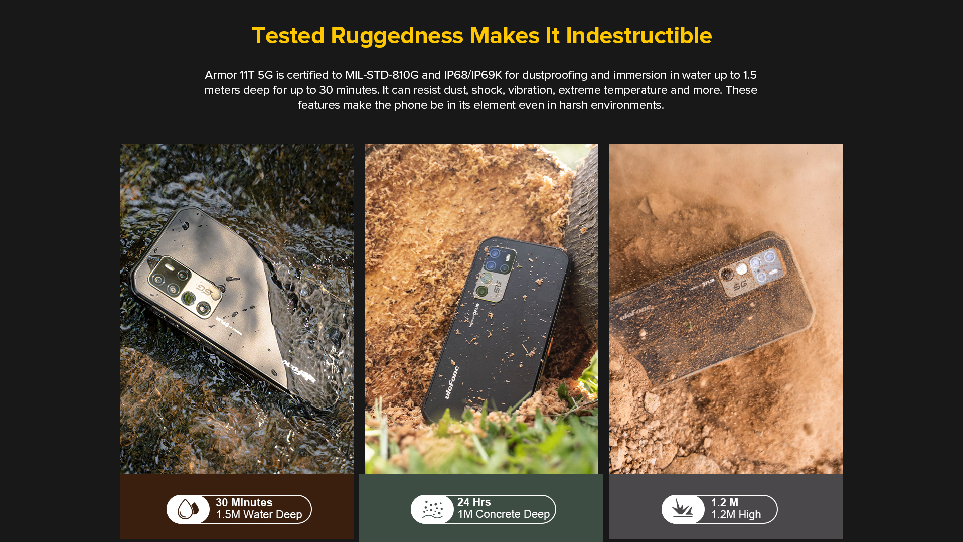 rugged mobile phone dust, water, shockproof
