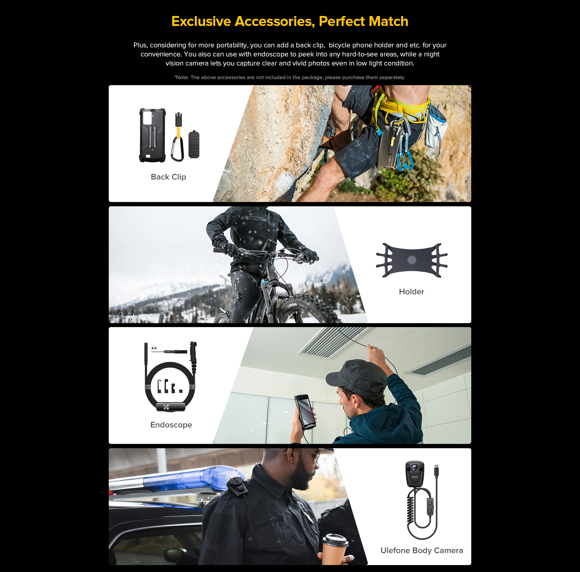 ulefone accessories and features