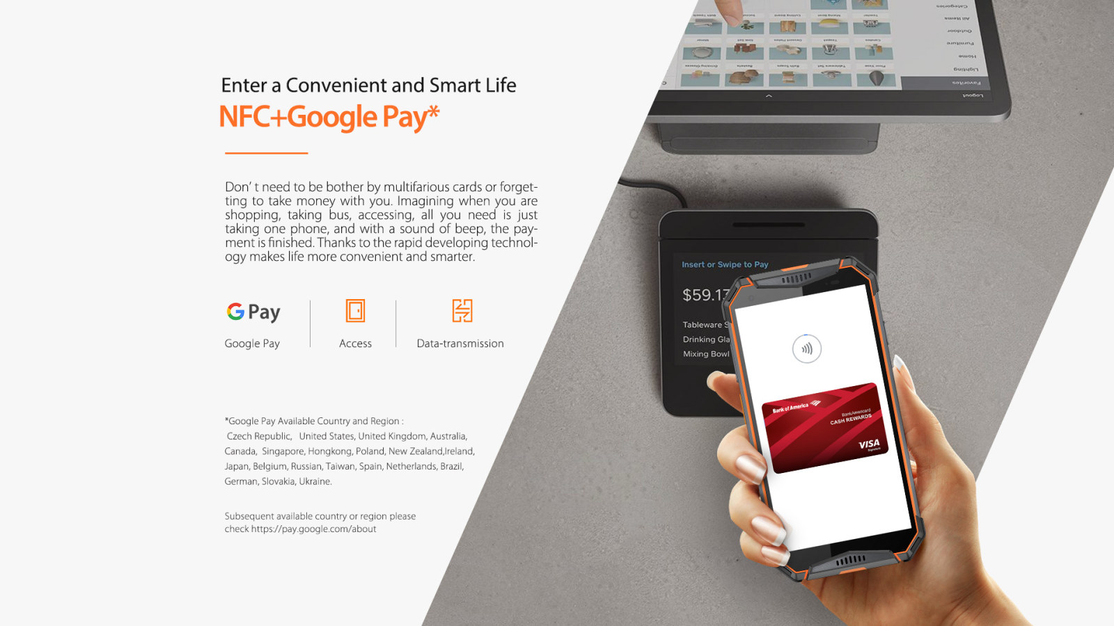 NFC Google play support