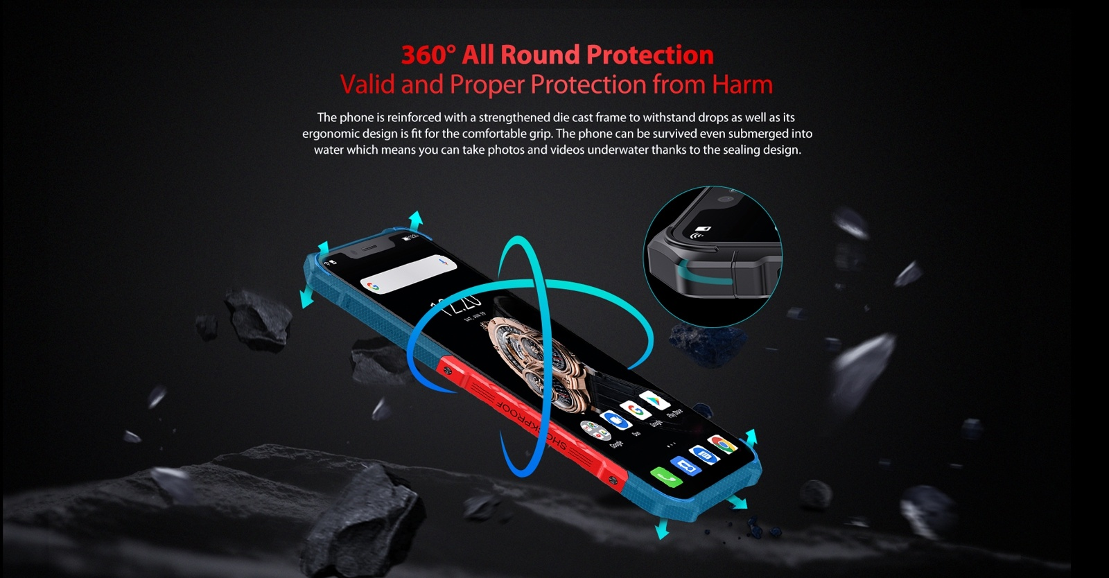 solid metal frame rugged cell phone