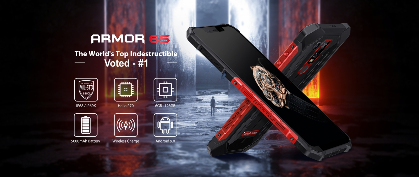 ultra rugged ulefone armor 6S cell phone
