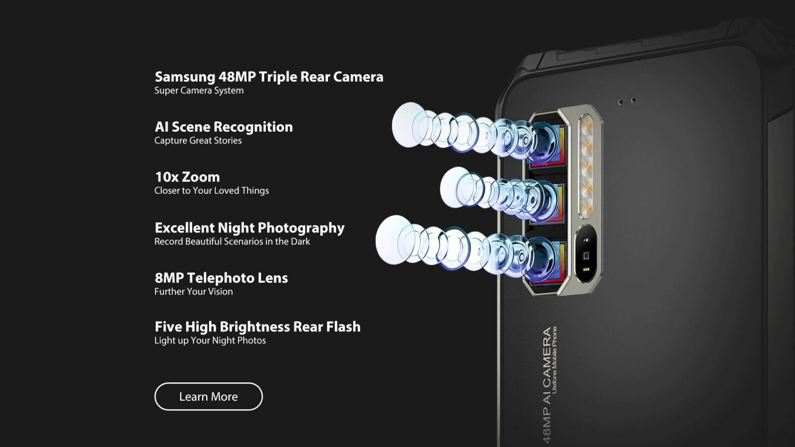 triple lens multiple capabilities