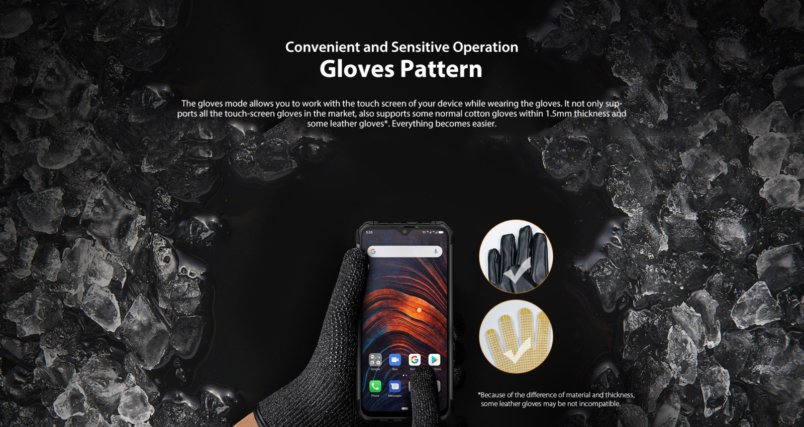 touchscreen use with gloves