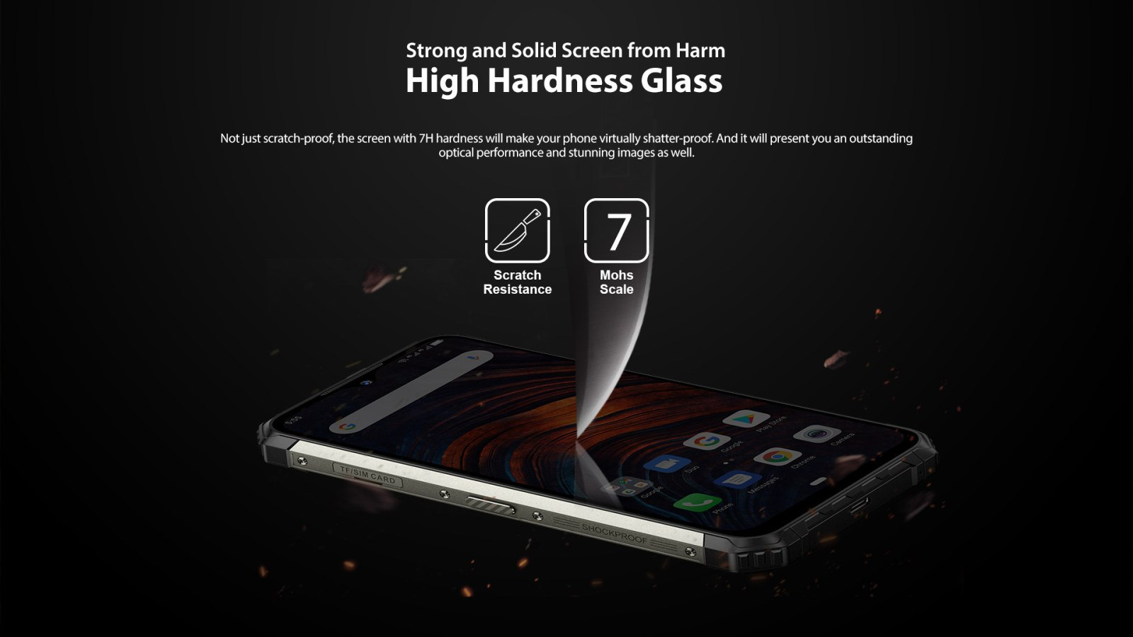 hardened glass scratch resistant screen