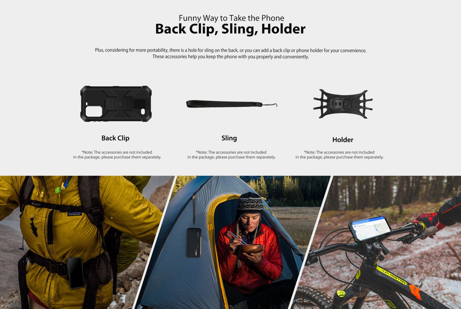 ulefone 7E rugged cell accessories