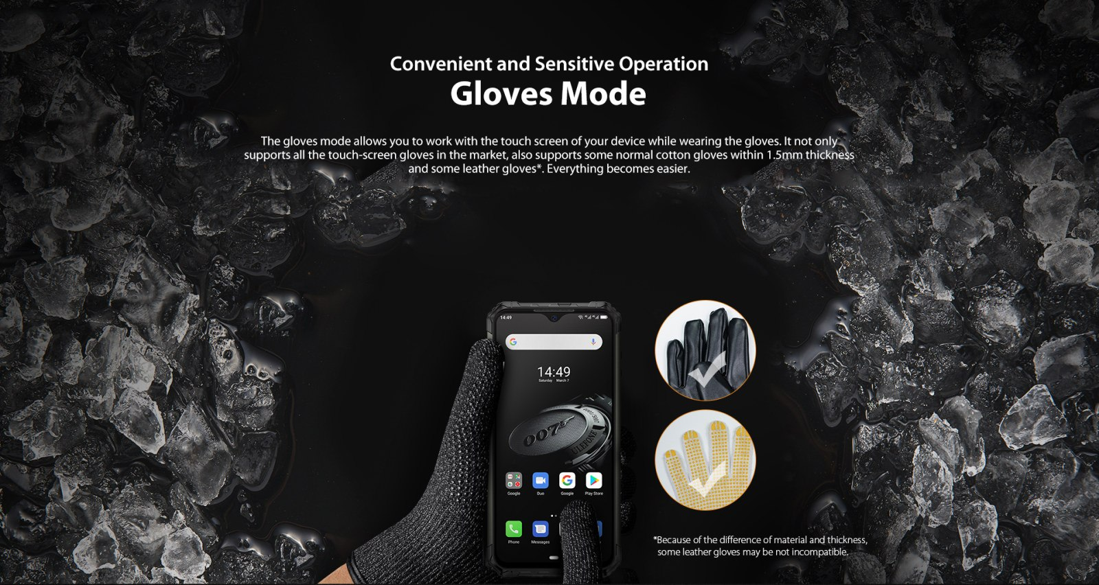glove compatible touchscreen