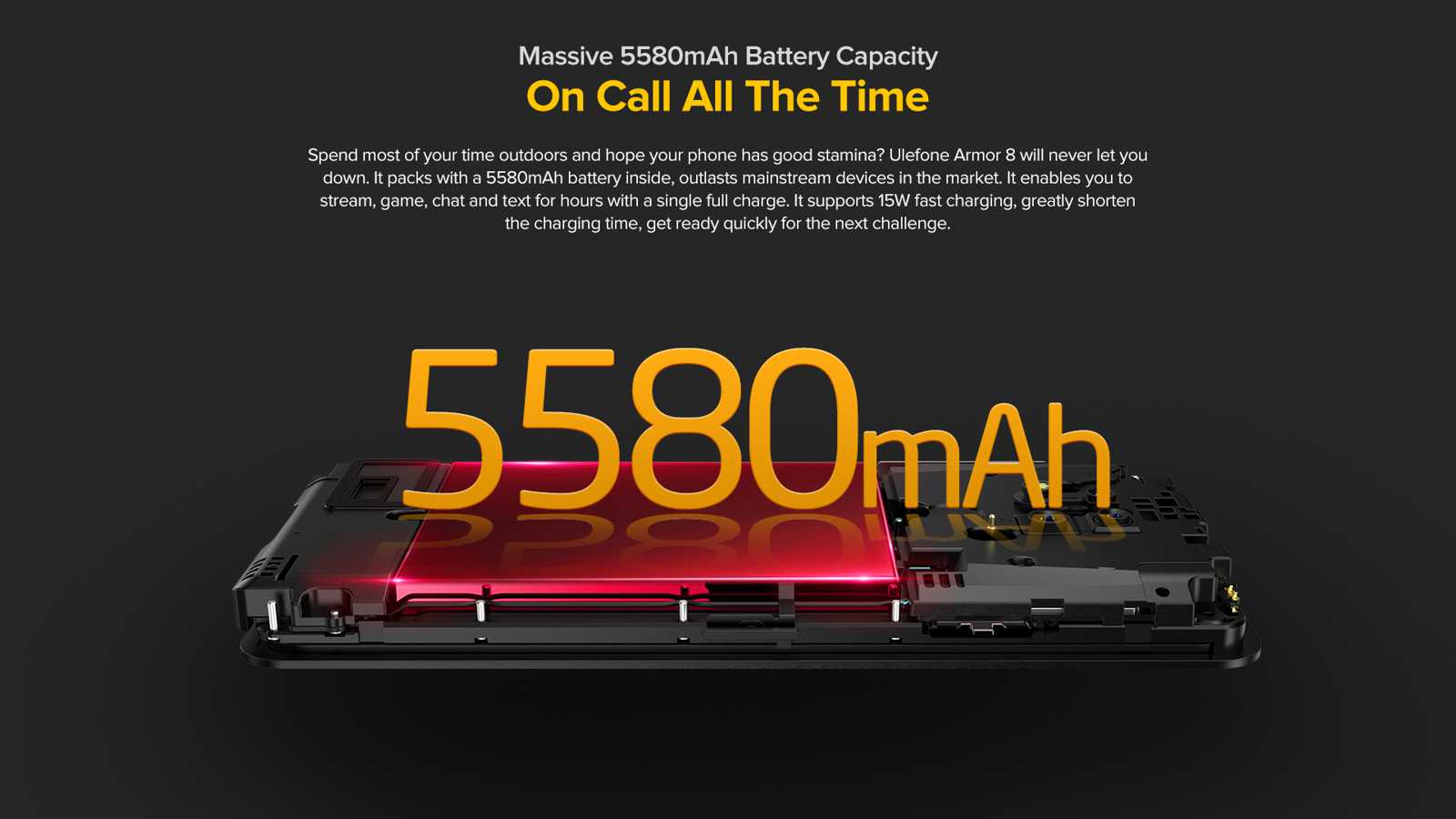5580mAh battery capacity