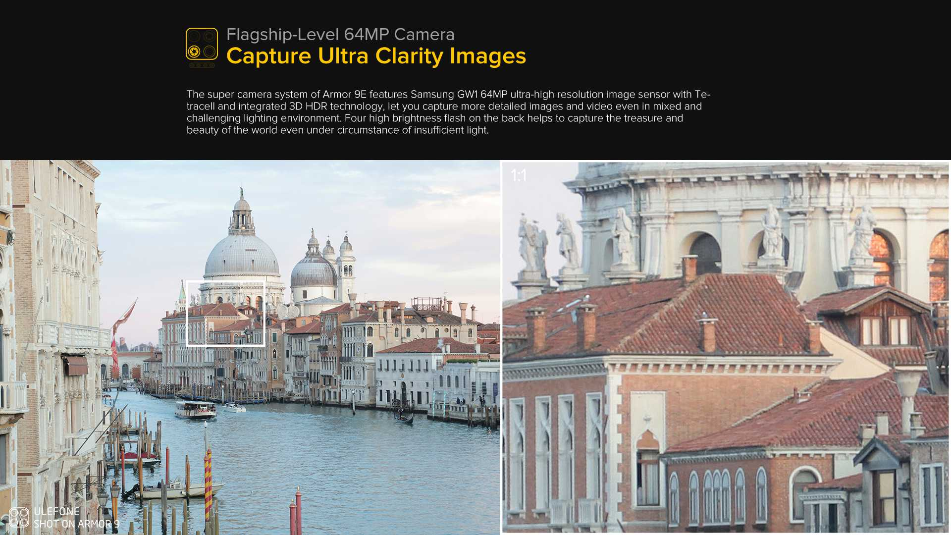64MP ultra clear images