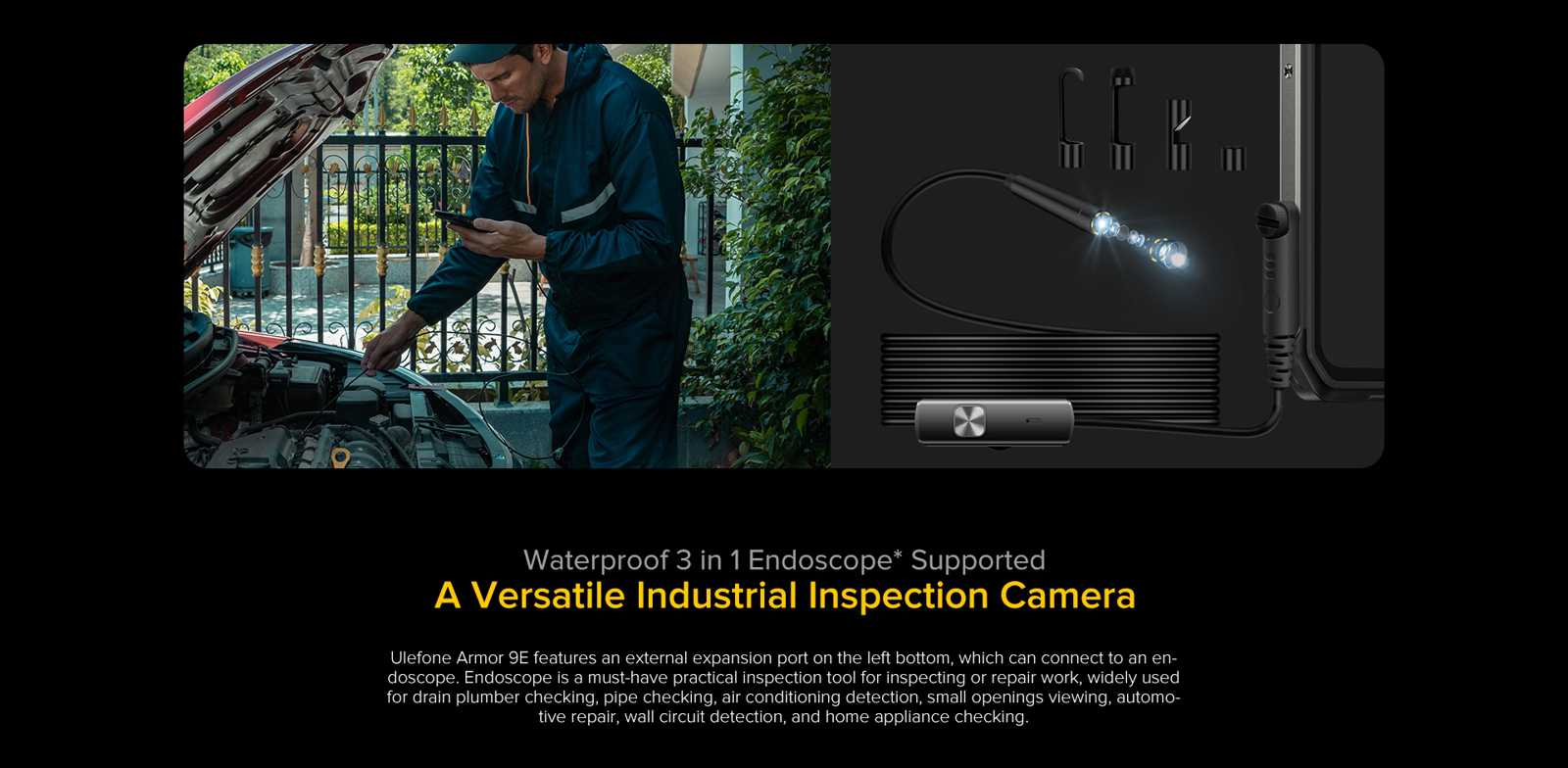 endoscope supported professional inspeciton