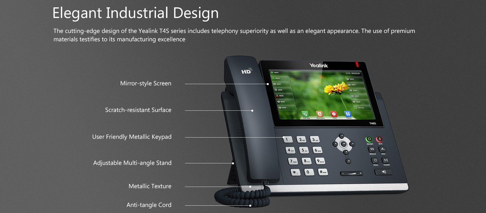Durable and elegant IP phone design