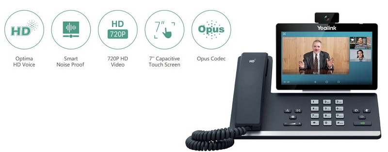 advanced video IP phone with HD camera