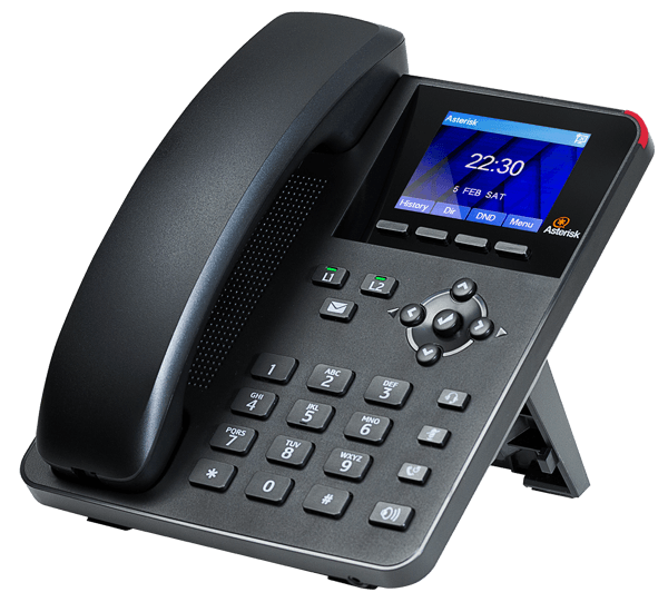 Digium A22 IP Phone for asterisk right side view