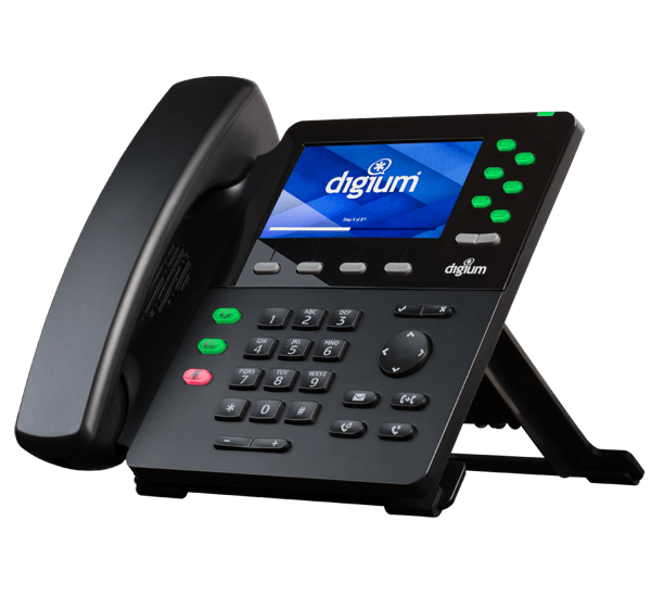 Digium D65 front right ip phone view