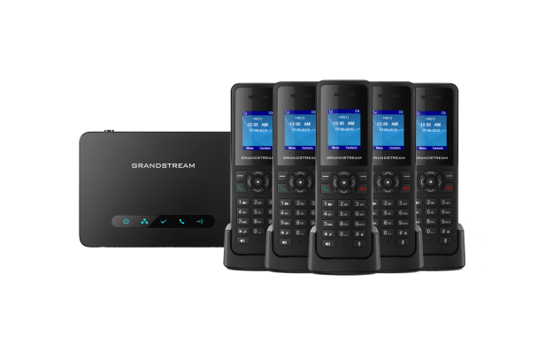 5 cordless DP720 ip handsets with DP750 base unit