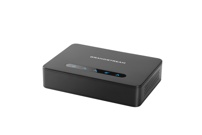 HT812 phone ata adapter sip voip side view