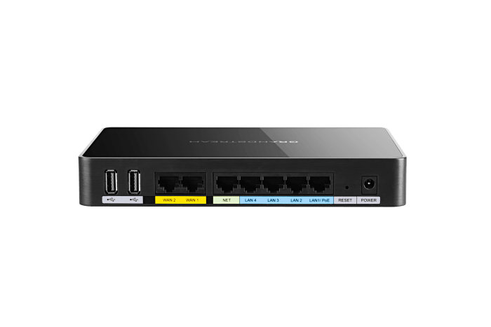 gwn7000 gigabit router vpn rear view
