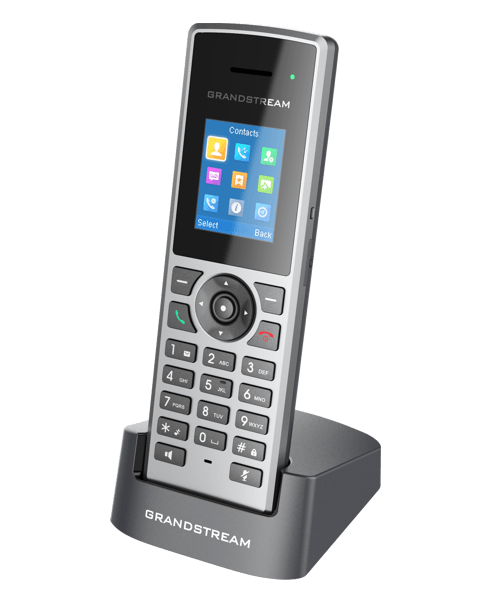 Grandstream DP722 cordless IP phone with charging station