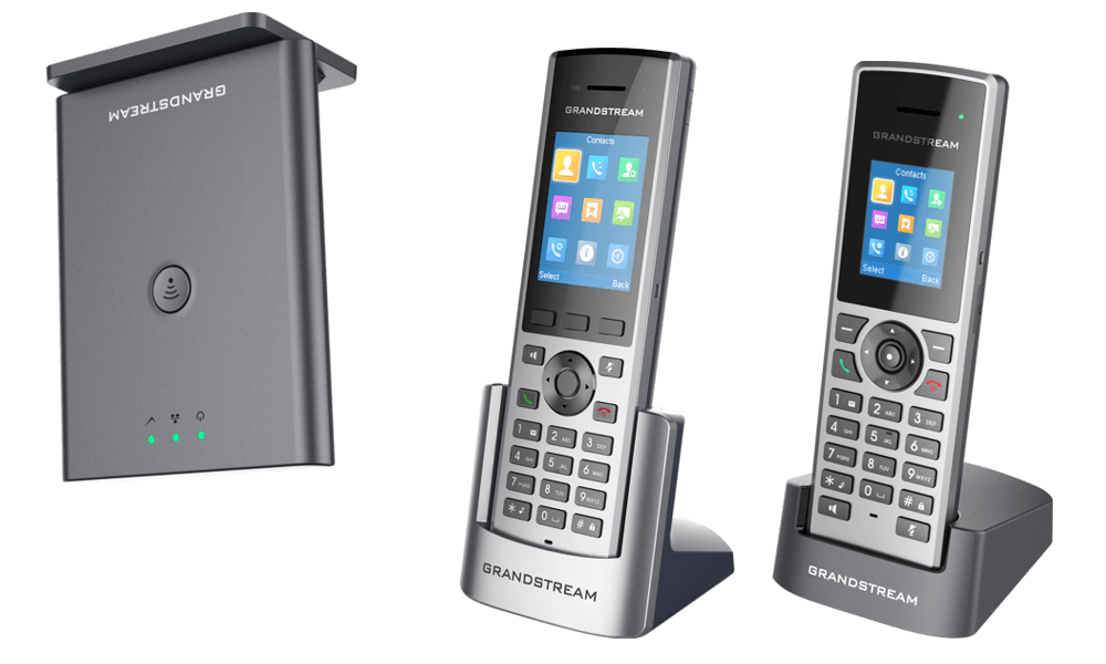GrandStream DP752 ceiling mounted base with DP722 and DP730 phones