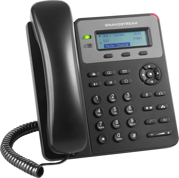 GXP1610 basic work ip phone front left side