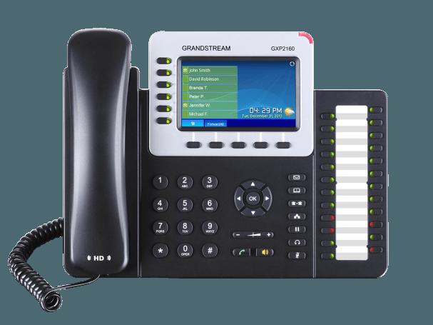 GrandStream GXP2160 ip work phone front view