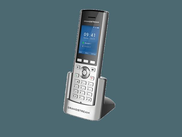 WP820 cordless ip phone on charging base