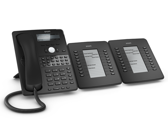 2 Snom D7 Extension modules with IP phone