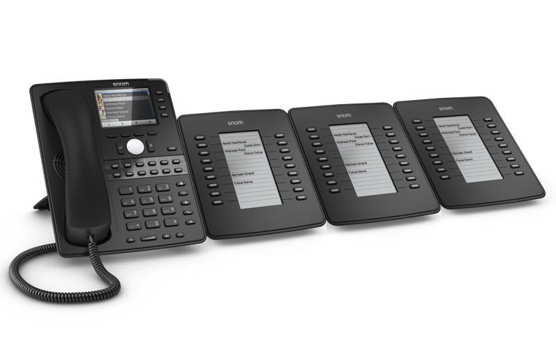 3 Snom D7 Extension modules with IP phone