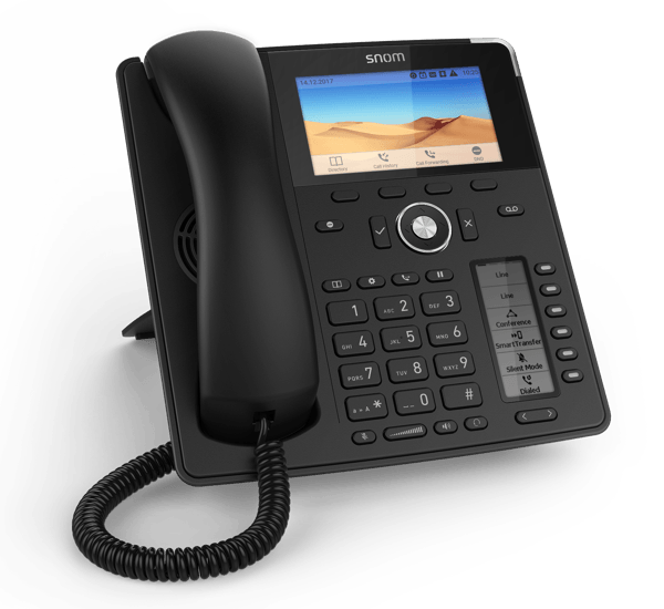 Snom D785 High-End Work IP Phone front left view