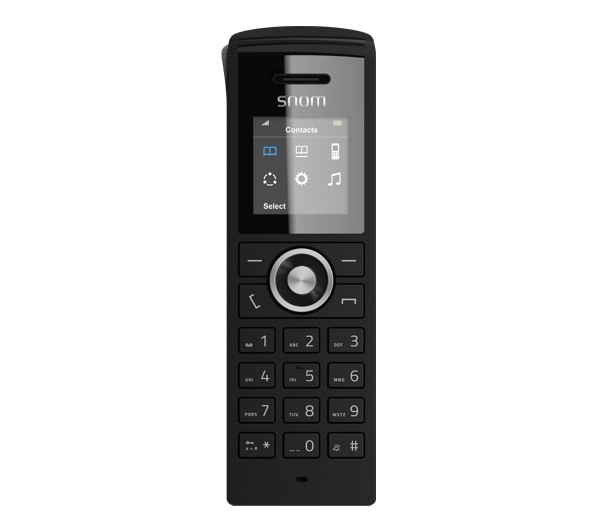 Snom M25 Cordless Office IP Phone - Handset config screen