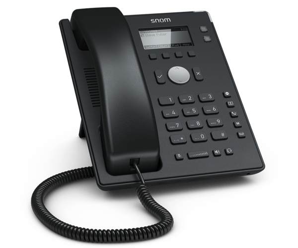 Snom D120 IP desk phone - entry level front left view