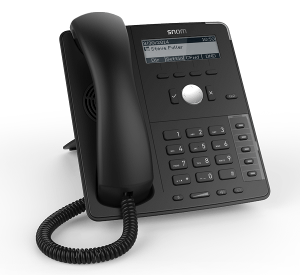 Snom D715 Professional ip phone front left side view