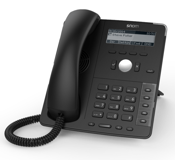 Snom D715 Professional ip phone front right side view