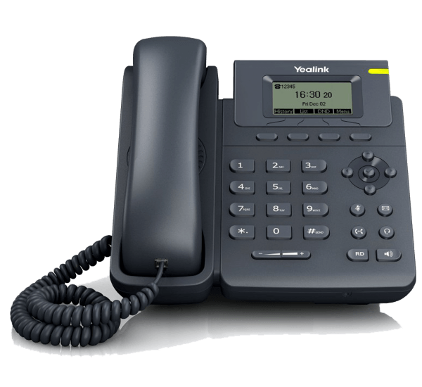 YeaLink T19P E2 Basic IP Phone work desk front view