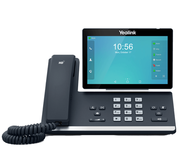 Yealink T58A IP Business High End IP Phone - front view