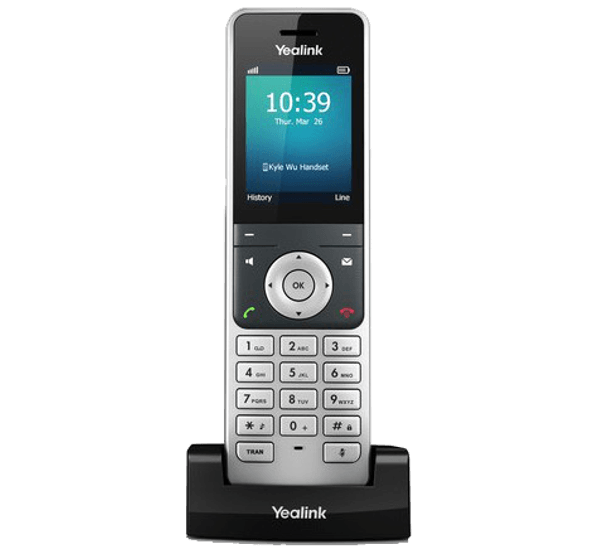 YeaLink W60P Cordless IP Phone charging cradle front view
