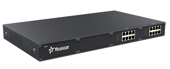 Yeastar S100 front left view 2 ex08 cards