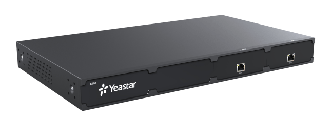 Yeastar S100 front left view 2 ex30 cards