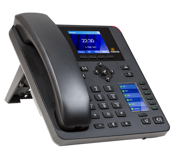 A25 IP Desk phone for asterisk left front view