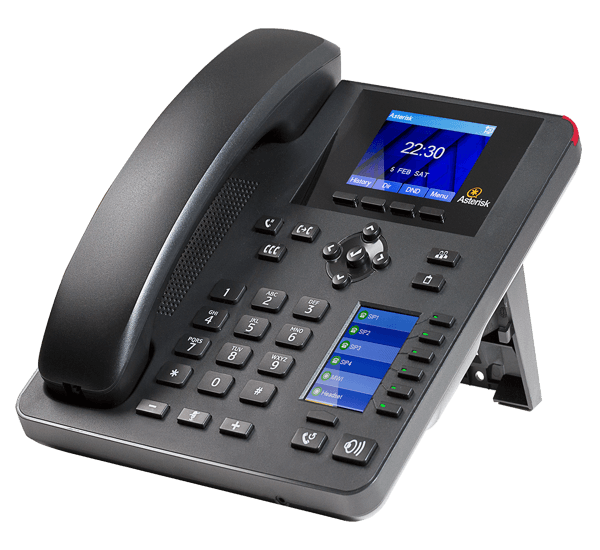 A25 IP Desk phone for asterisk right front view