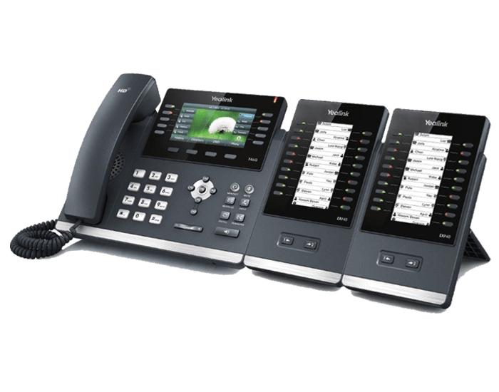 EXP40 with ip phone 2 sidecars