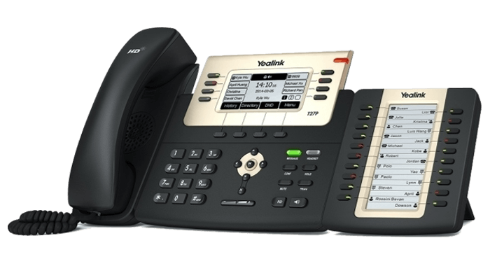 Yealink EXP20 sidecar with ip phone